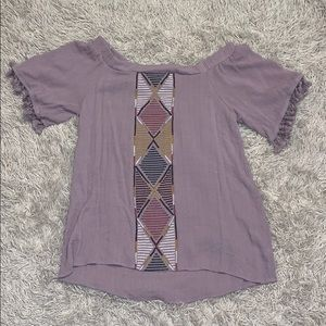 Size Large over the shoulder blouse